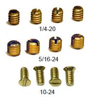 Etonnant #1/4 20 Slot   Standard Set Screw, Case Hardened, For #2400 And #2600 Knobs.  Packed 144 Per Bag.